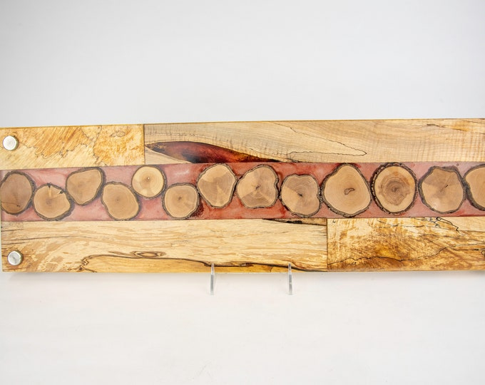 Cheese board, serving board, bread board, charcuterie board, various woods and epoxy resin, art panel, wood art, one of a kind, tp452