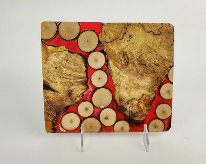Cheese board, serving board, bread board, charcuterie board, various woods and epoxy resin, art panel, wood art, one of a kind, tp524