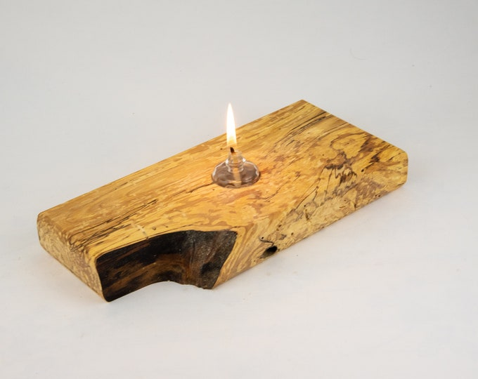 oil lamp, confetti lamp, liquid paraffin lamp, lamp, candles, candleholders, lights, lighting, home and living, spalted birch, tp82