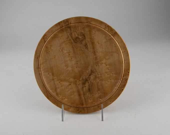 Plate, kitchen plate, wood plate, birdseye maple plate, tp685