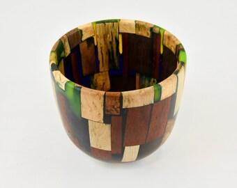 bowl, wood bowl, kitchen bowl, candy bowl, nut bowl, epoxy bowl, wood art, Wood and epoxy bowl, tp229
