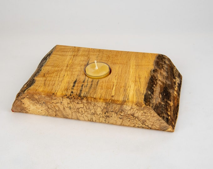 tea light, candles, candleholders, lights, lighting, home and living, spalted maple, tp468