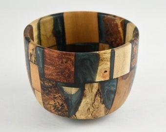 bowl, wood bowl, kitchen bowl, candy bowl, nut bowl, epoxy bowl, wood art, Wood and epoxy bowl, tp664