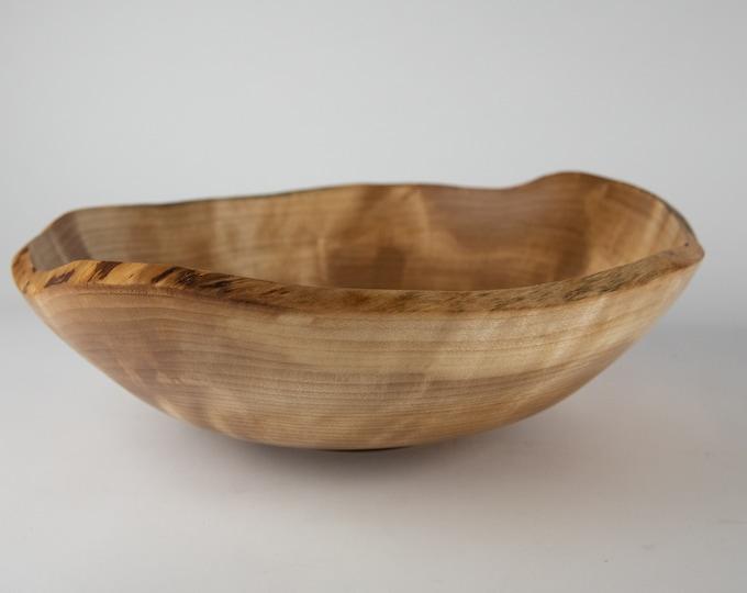 Live edge yellow birch burl bowl, tp735