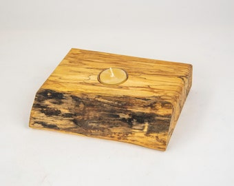 tea light, candles, candleholders, lights, lighting, home and living, spalted maple, tp471