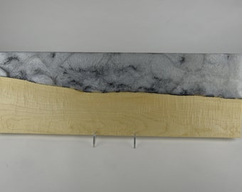 Serving board made from woods and epoxy resin, tp 715