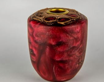 tea light, candles, candleholders, lights, lighting, home and living, banksia seed pod from Australia, dyed epoxy resin, tp630