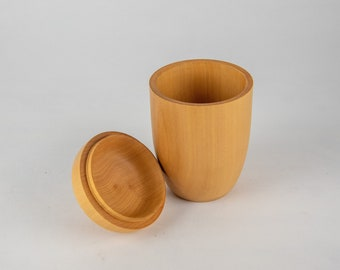 Turned boxes, lidded vessel, wood container, lidded woodturning, tp300