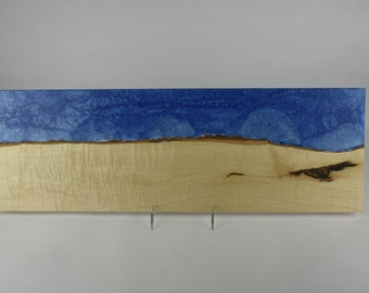 Serving board made from woods and epoxy resin, tp 716