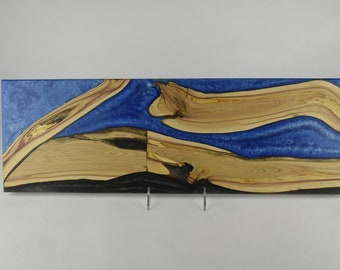 Serving board made from woods and epoxy resin, tp 714