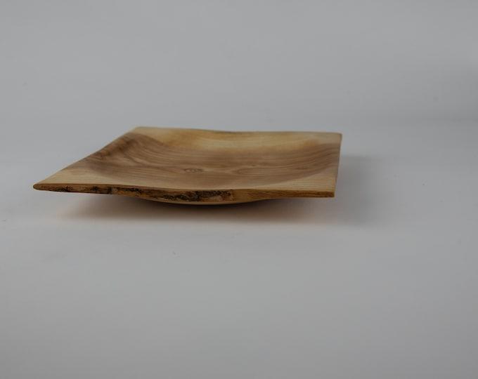Rectangular white ash plate, tp731