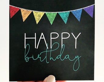 Bright and Chalky Birthday Card
