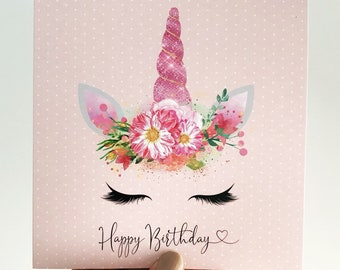 Unicorn Dreams Birthday Card