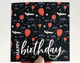 Fly Boy Birthday Card