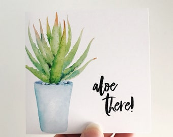 Aloe There Mini Card