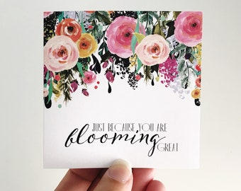 Blooming Great Mini Card