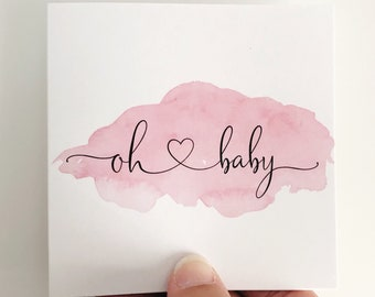 Baby Girl Mini Card {OH BABY}