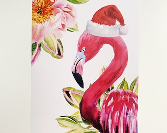 Flamingo Christmas Card Set