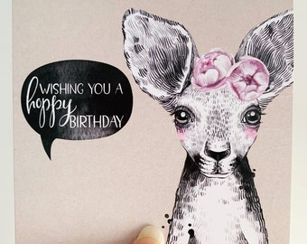 Birthday Card {WILMA THE WALLABY}