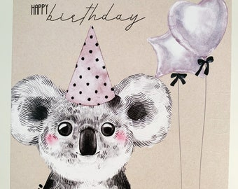 Birthday Card {KATIE THE KOALA}