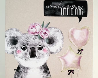 Welcome Baby Card {KATIE THE KOALA}