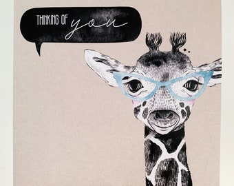 Thinking of You Card {GERALD THE GIRAFFE}
