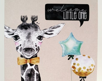 Welcome Baby Card {GERALD THE GIRAFFE}