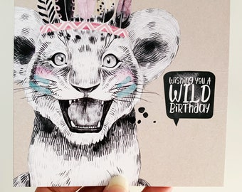 Birthday Card {CHLOE THE CUB}