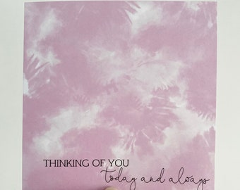 Thinking of You Card {TIE-DYE}