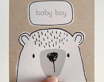 Baby Boy Card {BOBERT THE BEAR}
