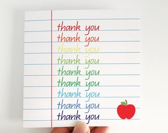 Thank You Teacher Card {RAINBOW}