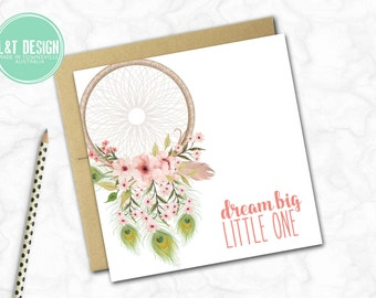 New Baby Card {DREAM BIG ~ DREAMCATCHER}