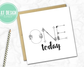 One Today Arrow Birthday Card