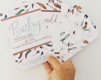 Baby Milestone Cards {BOHO BOY}