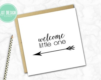 New Baby Card {Monochrome Arrow}