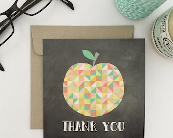 Thank You Teacher Card {GEO APPLE}