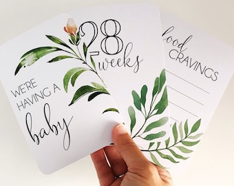 Pregnancy Milestone Cards {GROW WITH LOVE}
