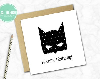 Birthday Mini Card {BATMASK}