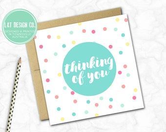 Thinking of You Mini Card {SPOTS}