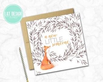 Sweet Fox New Baby Mini Card