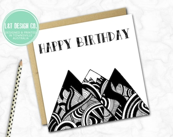 Birthday Card {Monochrome Mountains}