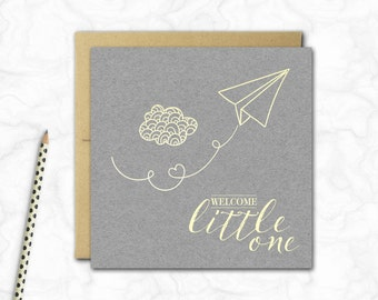 New Baby Boy Card {PAPER PLANE}