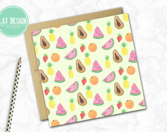 Tutti Fruitti Mini Card
