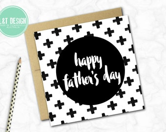 Father's Day Card {GEO CROSSES}