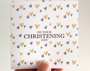 Christening Mini Card {HEARTS}