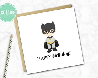 Mini Birthday Card {BATMAN}