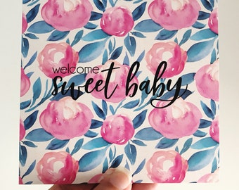 Welcome Baby Card (ROSY GIRL)
