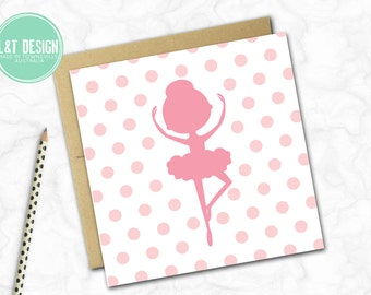 Ballerina Spots Mini Card