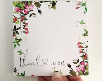 Thank You Card {FLOWERS}
