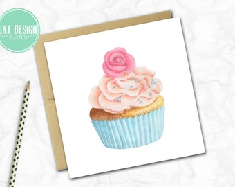 Pretty Cupcake Mini Card